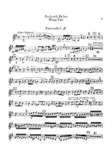 Brigg Fair : parte clarinetas by Frederick Delius