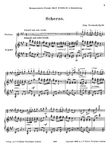 Scherzo for Violin and Piano, Op.98: Scherzo for Violin and Piano by Goby Eberhardt