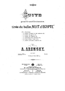 Egyptian Nights, Op.50: Suite, No.1-3 by Anton Arensky