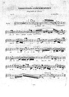 Concert Variations on Romance by Pacini for Voice, Violin and Piano, Op.17: Parte vocal by Alexandre Joseph Artôt