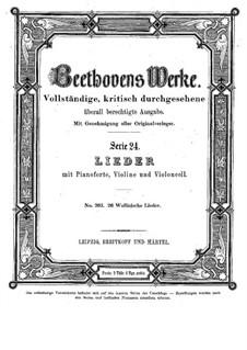 Twenty-Six Welsh Folk Songs, WoO 155: Twenty-Six Welsh Folk Songs by Ludwig van Beethoven