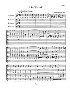 Canon 'Ta ta ta, lieber Mälzel', WoO 162: Canon 'Ta ta ta, lieber Mälzel' by Ludwig van Beethoven