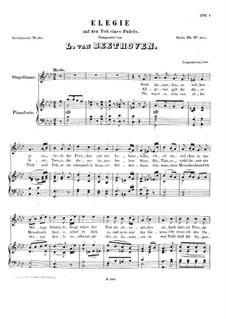 Elegie auf den Tod eines Pudels, WoO 110: Elegie auf den Tod eines Pudels by Ludwig van Beethoven