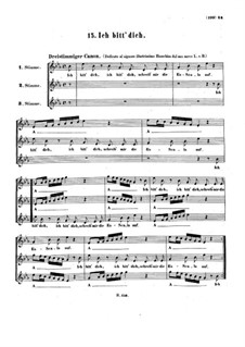 Ich bitt' dich, WoO 172: Canon for three voice by Ludwig van Beethoven