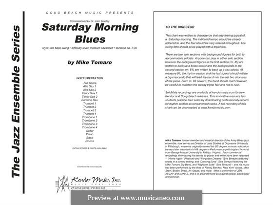 Saturday Morning Blues: partitura completa by Mike Tomaro