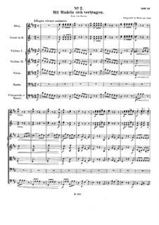 Aria 'Mit Mädeln sich vertragen', WoO 90: Para voz e orquesta by Ludwig van Beethoven