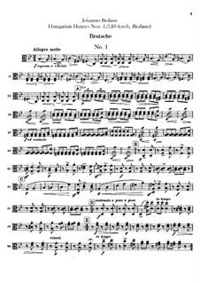 No.1, 3, 10: Para orquesta - parte de viola by Johannes Brahms
