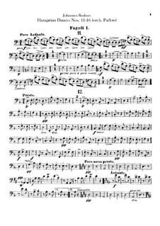 No.11-16: para orquestra - parte fagotes by Johannes Brahms