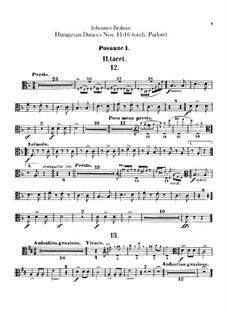 No.11-16: para orquestra - parte trombones by Johannes Brahms