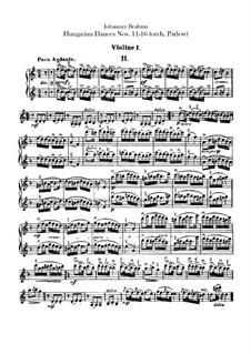 No.11-16: para orquestra - violinos parte by Johannes Brahms