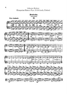 No.11-16: Para orquesta - parte de viola by Johannes Brahms