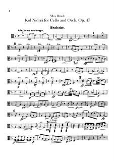 Kol Nidrei, Op.47: parte viola by Max Bruch