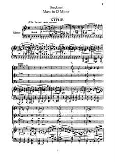 Mass No.1 in D Minor, WAB 26: Mass No.1 in D Minor by Anton Bruckner