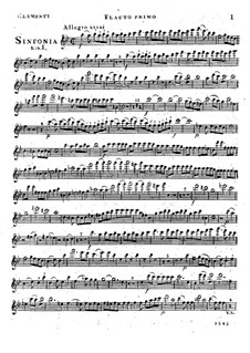 Symphony No.1 in B Flat Major, Op.18: flauta parte I by Muzio Clementi