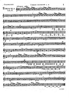 Symphony No.1 in B Flat Major, Op.18: trompa parte II by Muzio Clementi