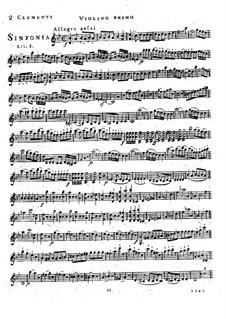 Symphony No.1 in B Flat Major, Op.18: violino parte I by Muzio Clementi