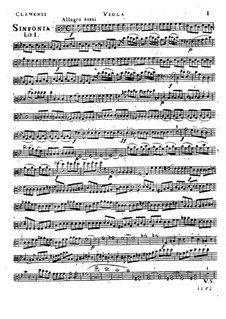 Symphony No.1 in B Flat Major, Op.18: parte viola by Muzio Clementi