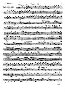 Symphony No.1 in B Flat Major, Op.18: parte fagote by Muzio Clementi