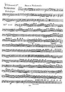 Symphony No.2 in D Major, Op.18: parte violoncelo e contrabaixo by Muzio Clementi