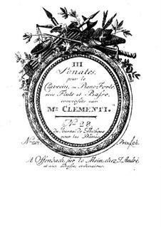 Three Sonatas for Flute, Cello and Harpsichord, Op.21: parte flauta by Muzio Clementi