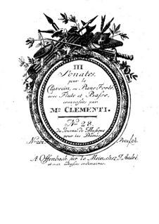 Three Sonatas for Flute, Cello and Harpsichord, Op.21: parte violoncelo by Muzio Clementi