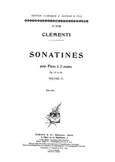 Three Sonatinas, Op.37: set completo by Muzio Clementi