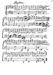 Poliphême for Voice, Violin (or Flute) and Basso Continuo: Poliphême for Voice, Violin (or Flute) and Basso Continuo by Louis-Nicolas Clérambault