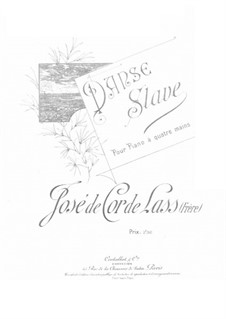 Slavonic Dance for Piano Four Hands: Slavonic Dance for Piano Four Hands by José de Cor-de-Lass