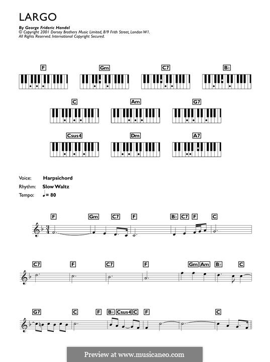 Largo: Facil para o piano by Georg Friedrich Händel
