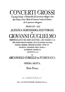 Complete set: Violin I concertino part by Arcangelo Corelli