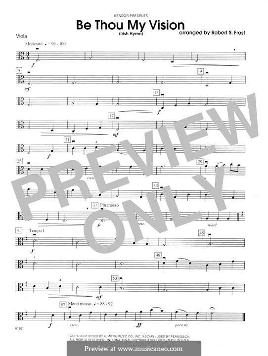 Be Thou My Vision (Printable scores): parte viola by folklore