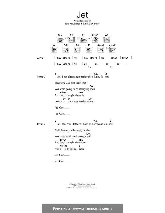 Jet (Wings): Para Guitarra by Linda McCartney, Paul McCartney