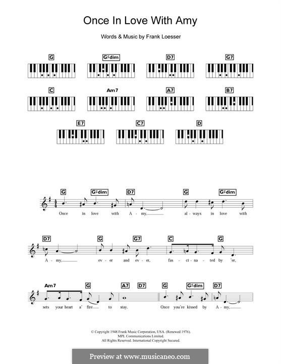 Once in Love with Amy (from Where's Charley?): Para Piano by Frank Loesser