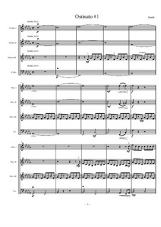 Four Ostinati for Strings: No.1 Marcato by Matthew Smith