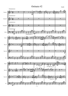 Four Ostinati for Strings: No.2 Tranquillo by Matthew Smith