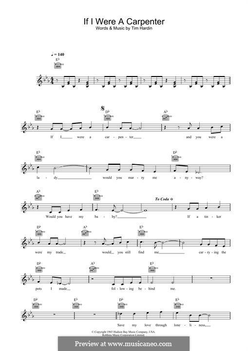 If I Were a Carpenter: para teclado by Tim Hardin