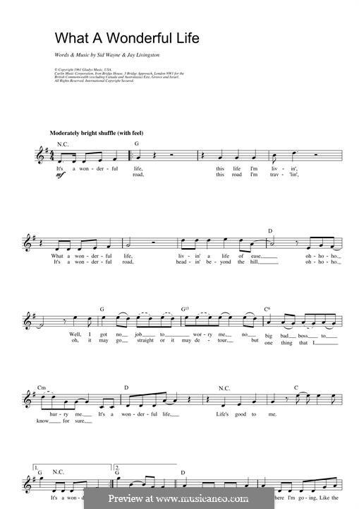 What a Wonderful Life (Elvis Presley): para teclado by Jerry Livingston, Sid Wayne