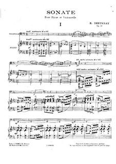 Sonata for Cello and Piano, Op.46: partitura by Edouard Destenay