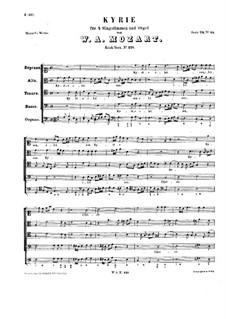 Kyrie in C Major, K.221: Kyrie in C Major by Wolfgang Amadeus Mozart