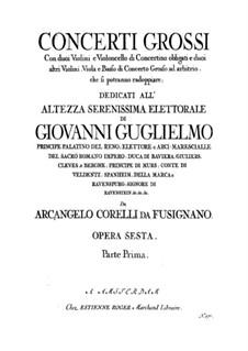 Complete set: Cello concertino part by Arcangelo Corelli