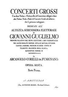 Complete set: Violin I ripieno part by Arcangelo Corelli