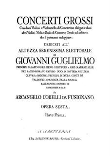 Complete set: Violin II ripieno part by Arcangelo Corelli