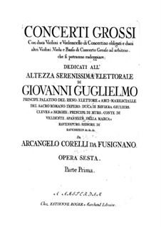 Complete set: Basso continuo ripieno part by Arcangelo Corelli