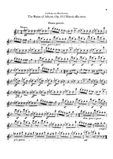 Turkish March: parte flauta piccolo by Ludwig van Beethoven