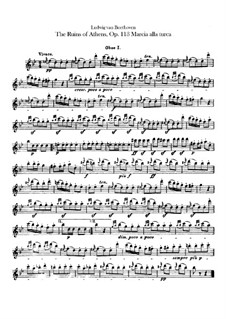 Turkish March: oboes parte I-II by Ludwig van Beethoven