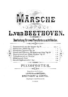 König Stephan (King Stephen), Op.117: Victory March, for two pianos eight hands – piano II part by Ludwig van Beethoven
