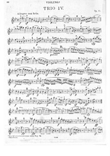 Trio for Clarinet, Cello and Piano No.4 'Gassenhauer' , Op.11: parte do violino by Ludwig van Beethoven