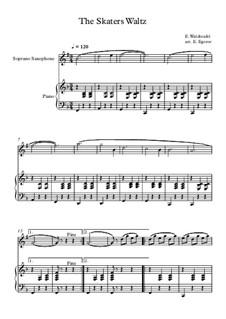 10 Easy Classical Pieces For Soprano Saxophone & Piano Vol.5: The Skaters Waltz by Wolfgang Amadeus Mozart, Franz Schubert, Antonín Dvořák, Georges Bizet, Georg Friedrich Händel, Giuseppe Verdi, Pyotr Tchaikovsky, Émile Waldteufel, Adolphe Adam, Sebastián Yradier