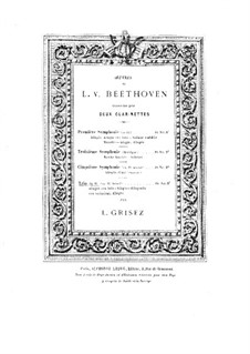 Trio for Clarinet, Cello and Piano No.4 'Gassenhauer' , Op.11: Version for two clarinets by Ludwig van Beethoven