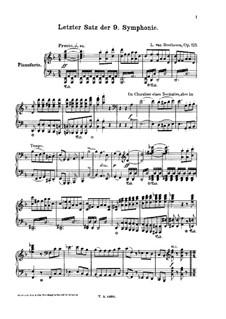 Movement IV: para solistas,coral e piano by Ludwig van Beethoven